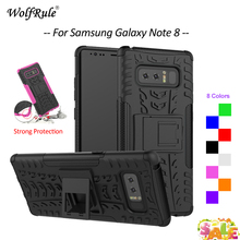 WolfRule Case For Samsung Galaxy Note 8 Case TPU & Plastic Stand Anti-Knock Cover For Samsung Galaxy Note 8 Case Note8 6.32'' cool protective plastic tpu case for samsung galaxy note 3 n9000 white black