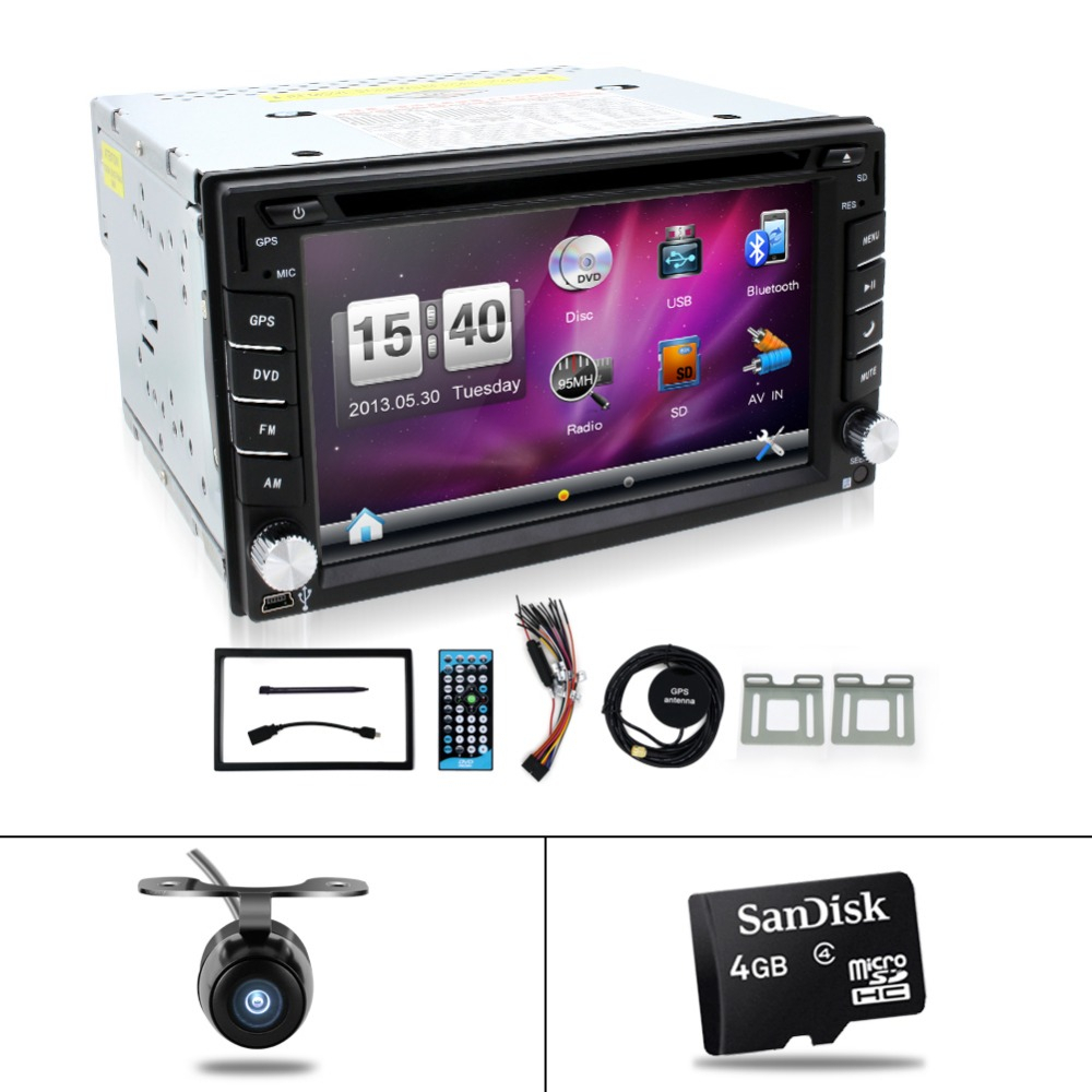 Free shipping car stereo systems Double din dvd player for car gps navigation In dash Car PC Stereo Head Unit video+Free Map Cad