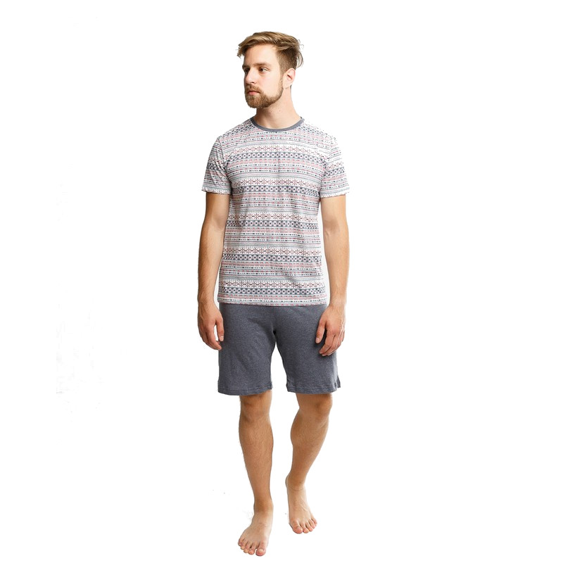 Men's set t-shirt+shorts Mark Formelle 591012-16-146-0 cotton clothing for male TmallFS contrast lace cami with shorts pajama set