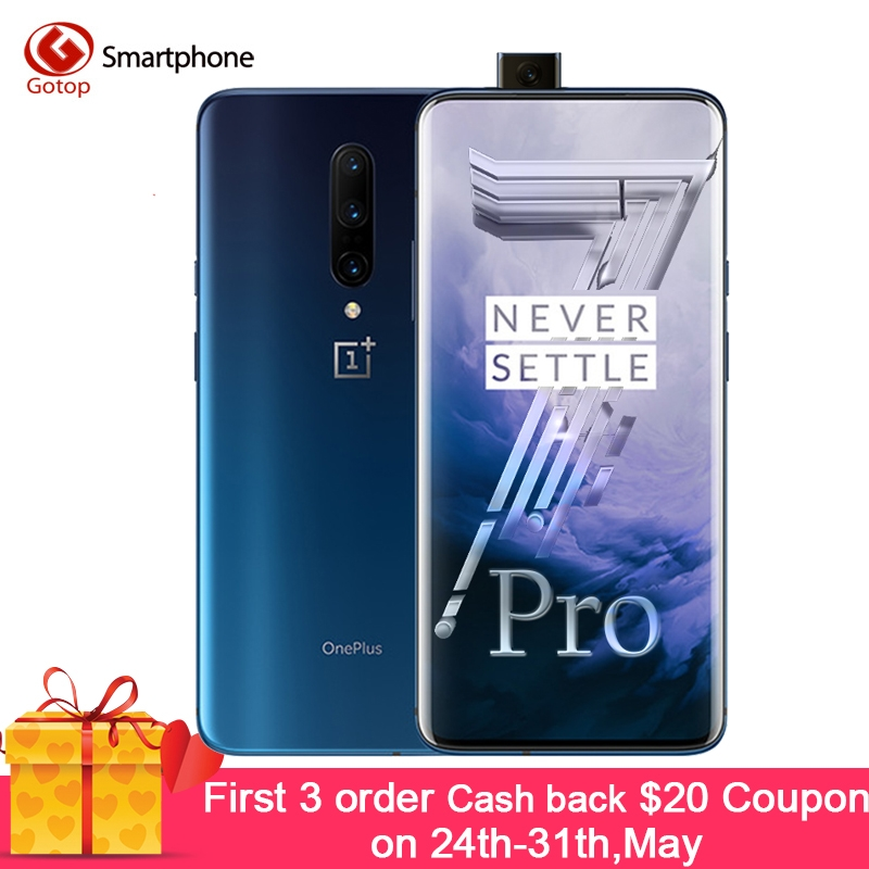 In Stock OnePlus 7 Pro 8GB 256GB Smartphone 48MP Cameras Snapdragon 855 6.67 Inch Fluid AMOLED Display Fingerprint UFS 3.0 NFC