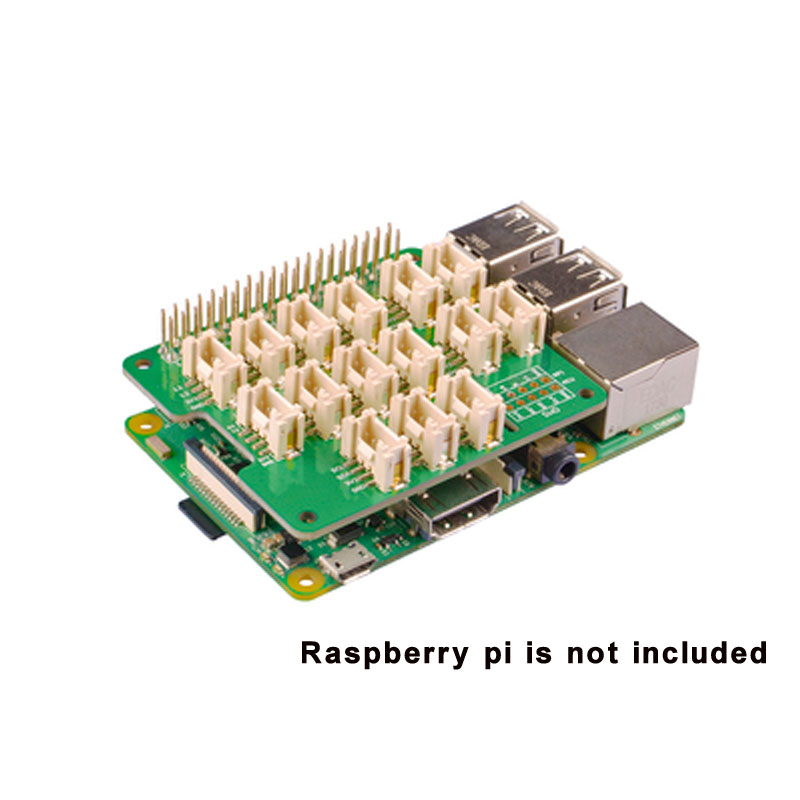 Suitable For Raspberry Pi 3B/3B+ Expansion Board For Grove Sensor MCU STM32 Grove Base Hat For Raspberry 2/3 B / B + Zero