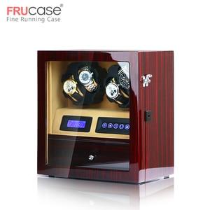 Image 4 - FRUCASE ملفاف ساعة صندوق ساعة عرض ساعة خزانة ساعة جامع تخزين مع شاشة LED باللمس عرض 4 + 5