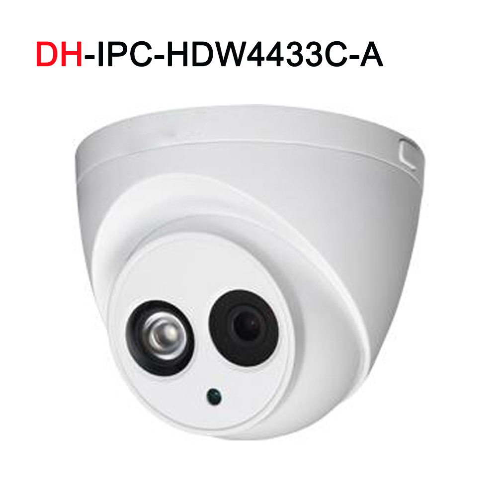 DH IP Camera 4MP IPC HDW4433C A Security CCTV Dome Camera with POE build in Mic upgrade from IPC HDW4431C A-in Surveillance Cameras from Security & Protection    1
