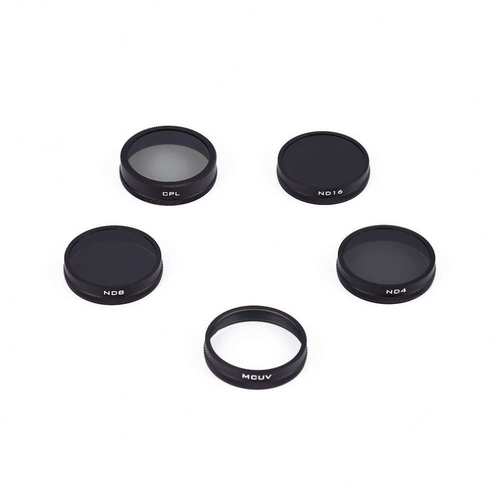 Whorl DJI phantom 4/3 Camera Lens Filter Kit, MCUV+ND4+ND8+ND16+CPL Filter kit with Storage Case for phantom 3 Advanced/Pro pgy dji phantom 4 3 professional accessories lens filter 6pcs bag nd4 nd8 mcuv cpl cover gimbal camera quadcopter drone part