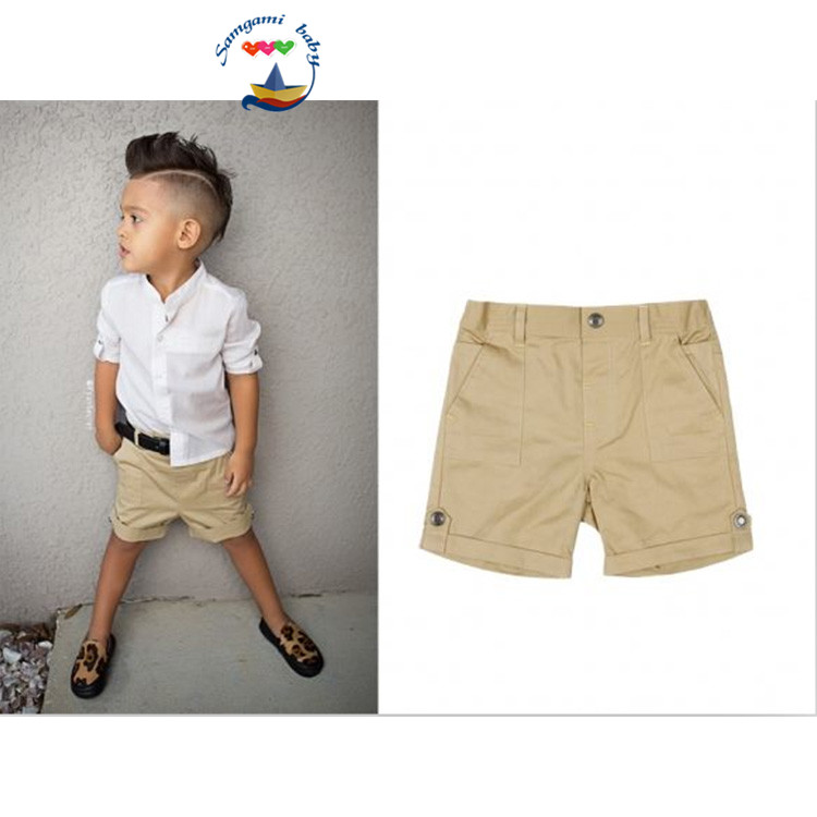 Aliexpress.com : Buy Summer fashion baby boy`s white shirt   khaki ...