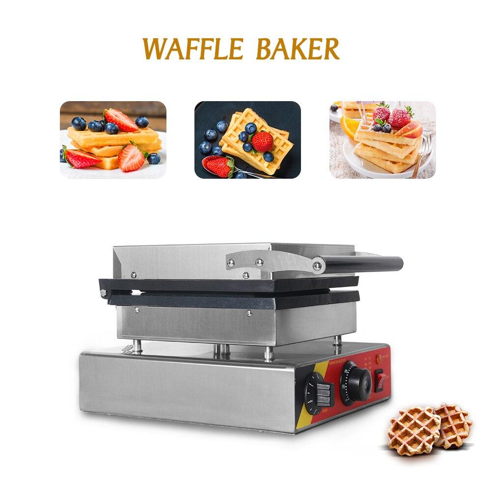 ITOP 220 V máquina eléctrica para hacer wafles máquina de hierro sándwich burbuja huevo pastel horno Waffle panadería máquina de desayuno - 4
