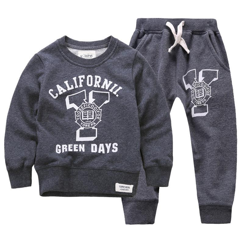 2015 New Winter Autumn Children Set Hoodies Sweatshirt Set Boys Girls Coat Kids Long Sleeve Casual Outwear Baby Clothing Set