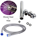 camaTech 3 Heads Aluminum Enema Shower Vagina Cleaner Colonic Douche Anal Plug Rectal Syringe Cleaning System With 1.5M Hose