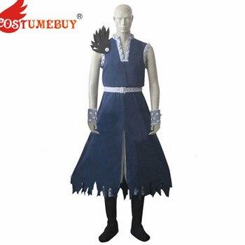 CostumeBuy Fairy Tail Dragon Slayer Gajeel Redfox Cosplay Costume Adult Halloween Carnival Fancy Full Set Custom made