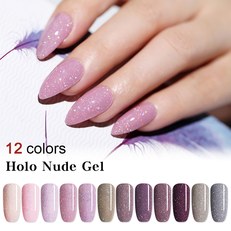 Gel Nail Designs Holographic