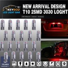 Keyecu 20*194 красный светодиод T10 2SMD 3030 фишек салона Свет ReplacementW5W 168 175 19Map-Dome-Courtesy-License пластины