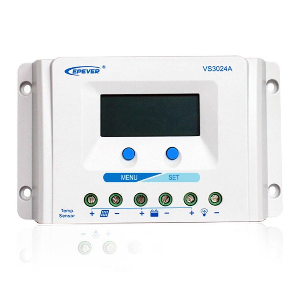 EPEVER VS3024A 30A 30amp 12 v 24 v contrôleur de travail automatique EPsolar pour panneau d'utilisation personnelle du système solaire domestique