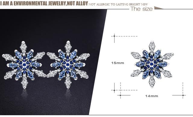 100% 925 Sterling Silver Snowflower Pendant/ Earrings /Ring Set