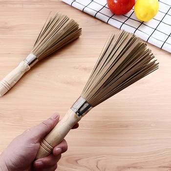 1 pc 25 centimetri tradizionale pan spazzola di pulizia, naturale di bambù wok spazzola per lavare i piatti utensili da cucina di alta qualità attrezzo della cucina