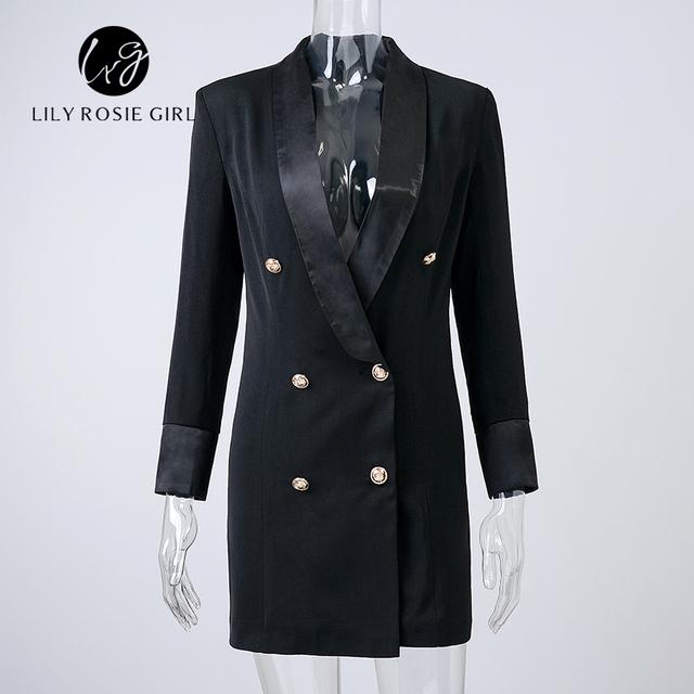 Casual Autumn Work White Long Sleeve Suit Blazer Women Double Breasted Ladies Blazers 2016 Winter Coat Jacket Office Outwear