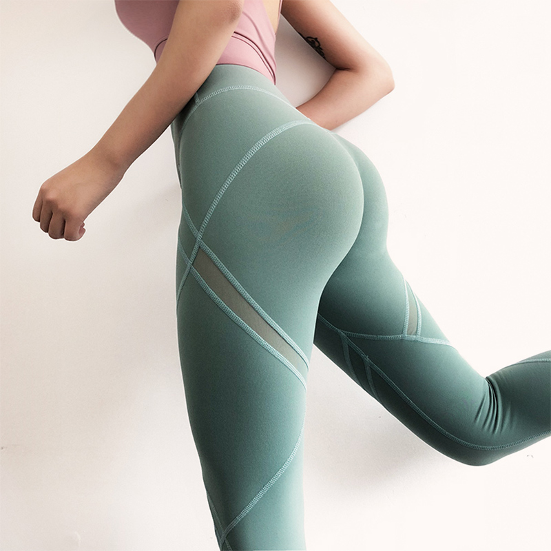 Colorvalue Yoga Pants Green Mesh Panel Scrunch Butt Leggings Flex Fitness Sport Leggings High Waisted Sports Wear For Women Gym best selling korea natural jade heated cushion tourmaline health care germanium electric heating cushion physical therapy mat page 8