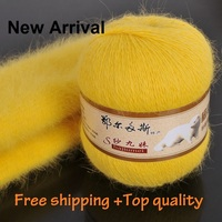 200g 4skein Per Lot New Arrival Top Quality Long Hair Mink Cashmere Yarn Hand Knitting Yarn