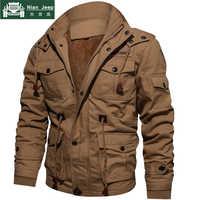 ¡Oferta! chaqueta gruesa militar de invierno para hombre, Abrigo con capucha, abrigos térmicos gruesos, chaquetas para hombre de marca M-4XL talla grande