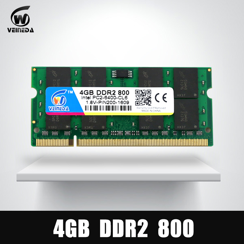 4 Гб памяти DDR2 с частотой 533/667/слота SODIMM 800мгц ОЗУ 4 Гб DDR 2 модули PC2-6400 ноутбук для Intel мобо АМД