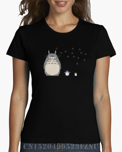 brand clothing Real Special Offer women t shirt Totoro chica Short Print Cotton anime tees girl Clothing