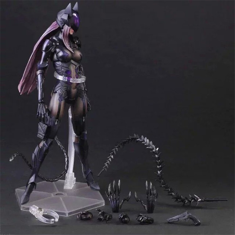 Play Arts PA DC Super Hero Catwoman Figure Batman Series Selina Kyle Toy Doll 25cm