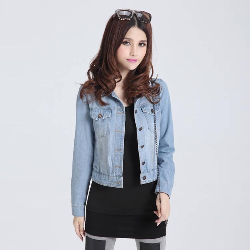 2016 New Arrival Jackets Women Jean Coats Autumn Spring Casual Style Ladies Denim Jackets Slim ...