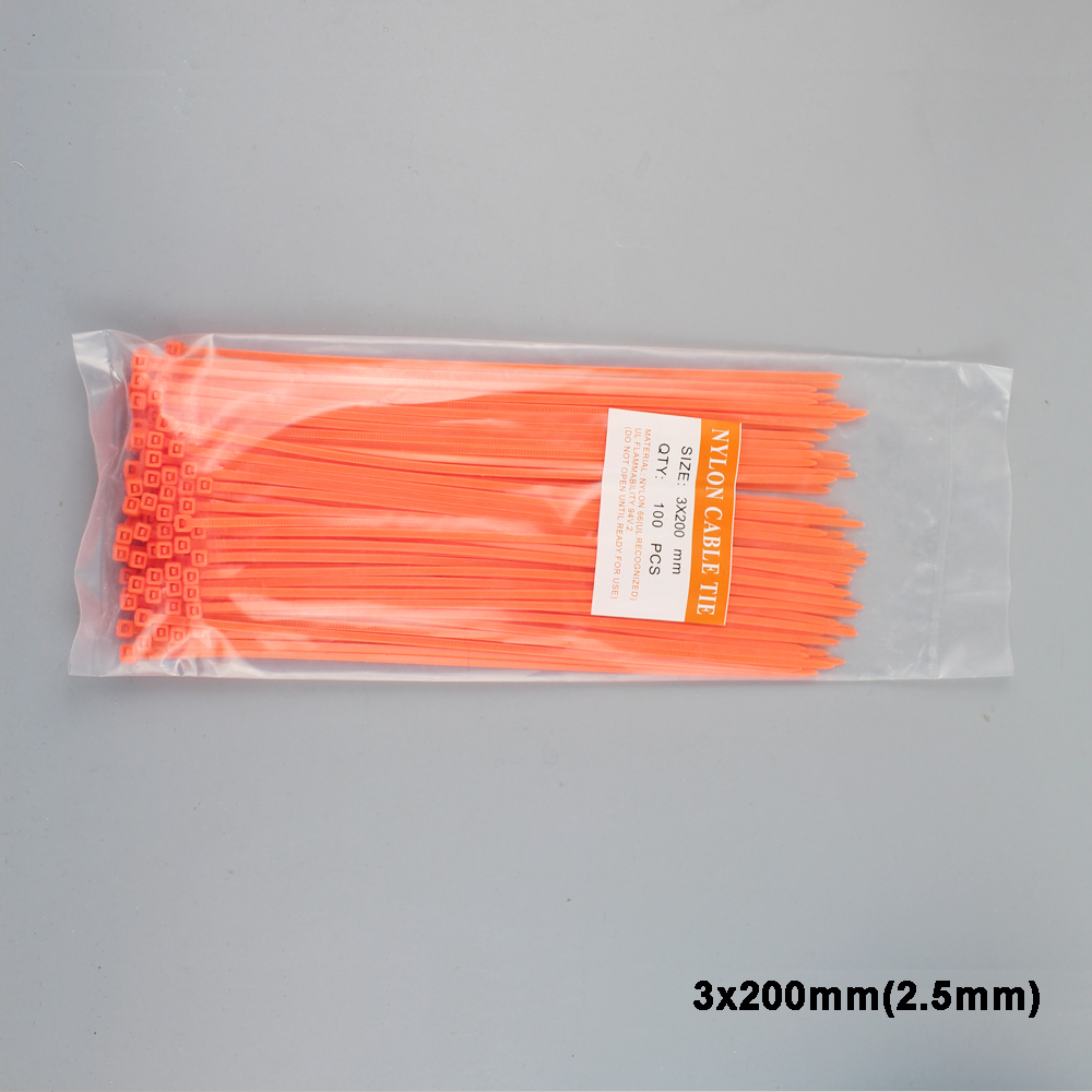 644258c2fefd Beautiful Orange Color Cable Ties Colorful 100pcs/lot 3x200mm colorful Nylon  cable ties 2.5mm Self locking type -in Cable Ties from Home Improvement on  ...