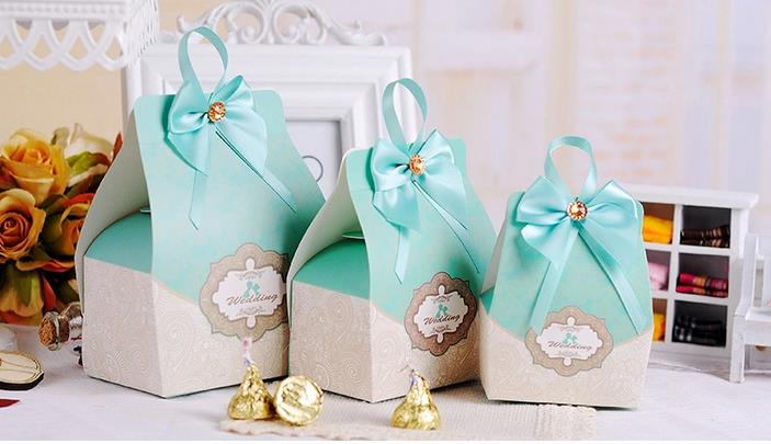 100pcs Tiffany Blue Wedding Favors Candy Box Holders Gifts Bo Rustic Centerpieces Decoracion Vintage On Aliexpress Alibaba