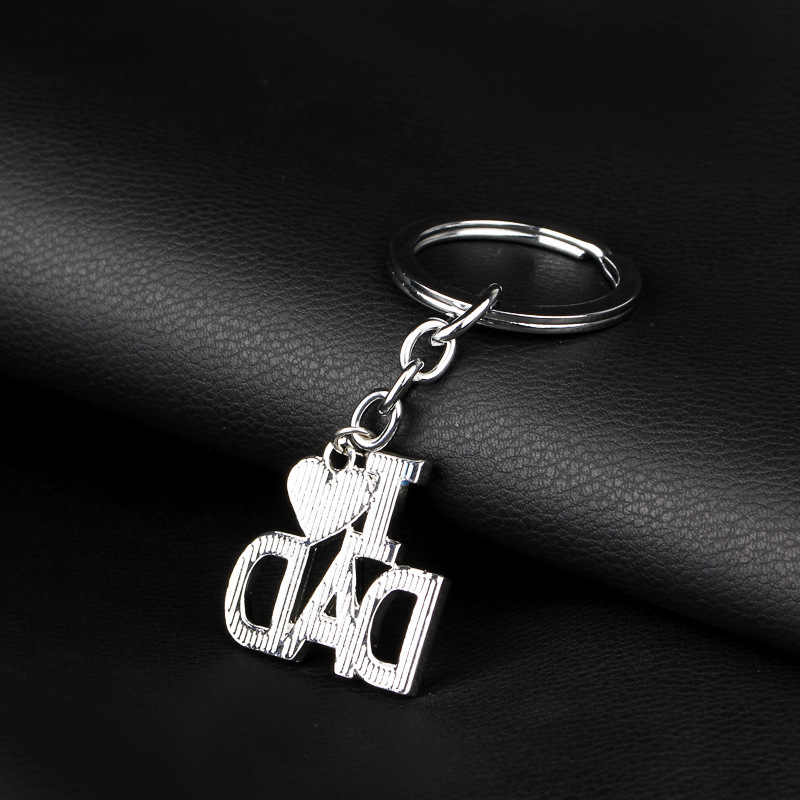New I love mom พ่อ papa mama heart trinket พวงกุญแจครอบครัว rucksack หัวเข็มขัด car key พ่อวันแม่กุญแจโซ่ช่างกุญแจ
