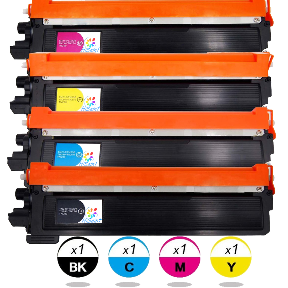 Hisaint Listing 4Packs(1B/1C/1Y/1M) Compatible Toner Cartridge For Brother TN210 TN230 Fit for DCP-9010CN HL-3070CW HL-3075CW 3eb10047 2b 3eb10047 2f 3eb10047 1c 3eb10047 1b
