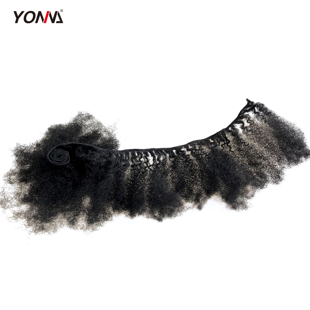 Yotchoi 4Pcs/Lot Tight Afro Kinky For Weaving 100% Mongolian Tight Kinky Curly Human Hair Weave Extensions For Black Women