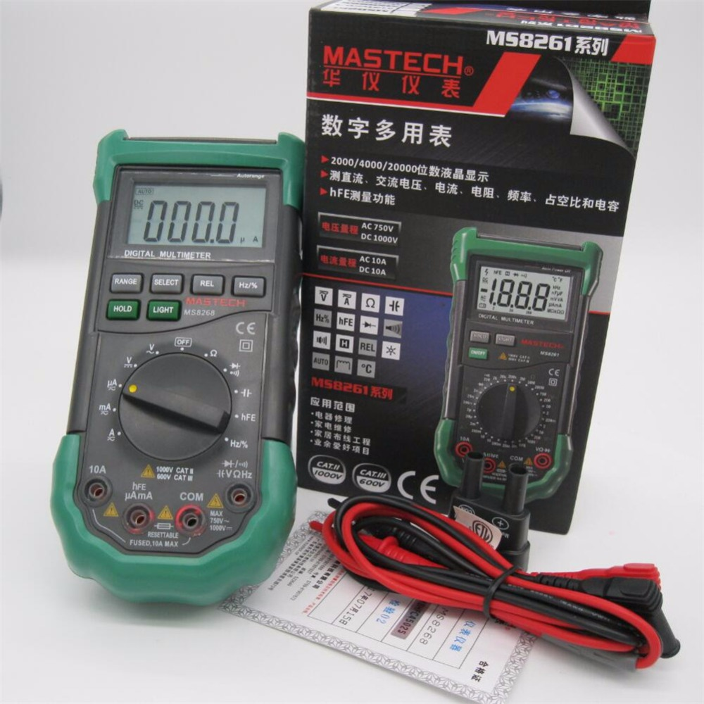 Mastech Digital Multimeter Auto Range Full Protection Ac Dc Ammeter Circuit Tester Multitester Voltmeter Ohm Frequency Electrical In Multimeters From Tools On