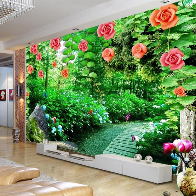 3d murals wallpaper murals jade rose vine custom green 3d landscape wallpaper nonwoven decor