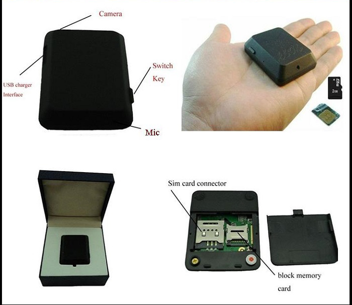 X009 Mini GPS Tracker Locator Cameramonitor Audio Video Record Monitor GSM Monitor Videorecorder GPS Tracking Deveice