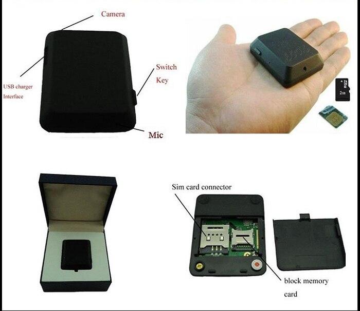 X009 Mini GPS Tracker Locator Camera Monitor Audio Video Record Monitor GSM Monitor Video Recorder GPS Tracking Deveice