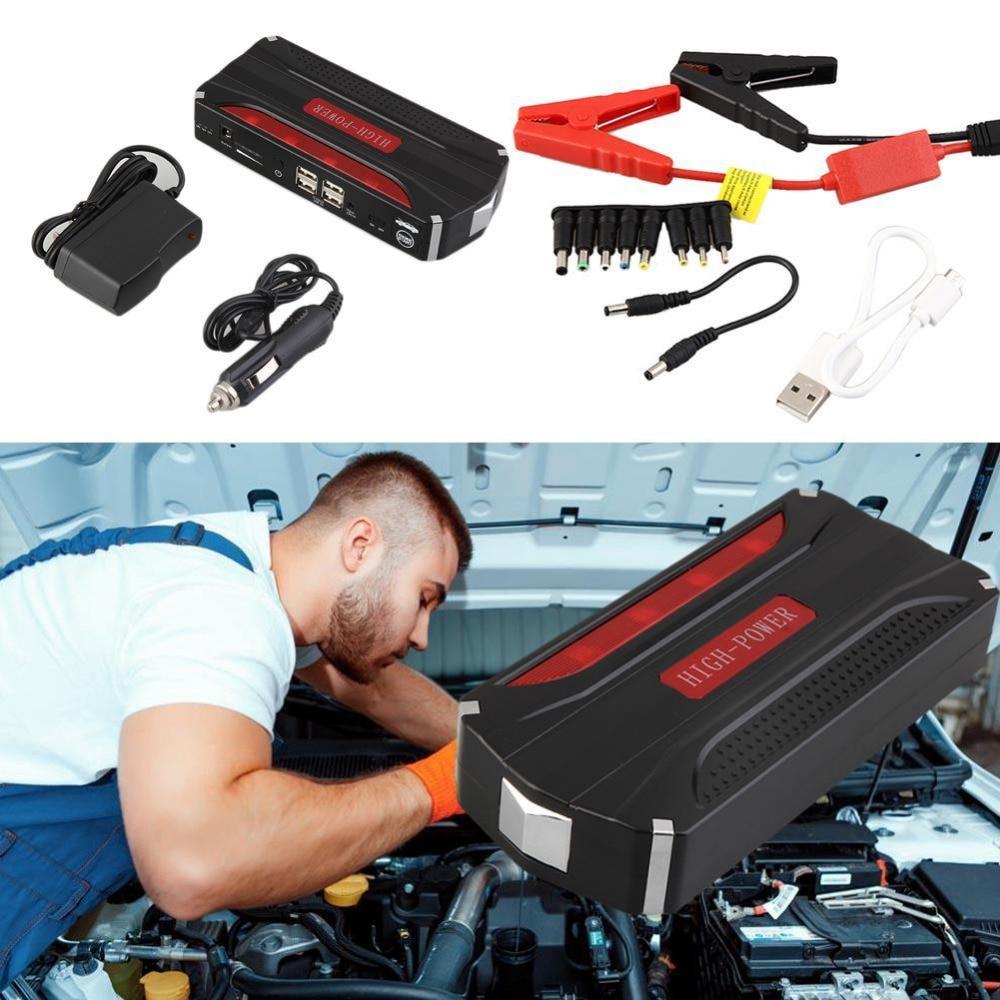 New Design 68000mah Super Capacity Multi Function 12V Car Jump Starter Power Bank Lights Car Battery