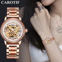 Luxury Brand Skeleton Sapphire Crystal Women Mechanical Watch Reloj Mujer Fashion Elegant Ladies Watch Montre Femme