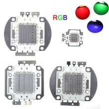 5pcs 10W/20W/30W/50W/90W/100W High Power LED RGB Integrated Lamp bulbs Beads Red Green Blue light Chips for led floodlight