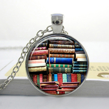 2017 Collares Collier Library Book Case Necklacevintage Style Gift For Students Teachers And Librarians Necklace ,old Books