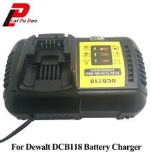 Для Dewalt DCB118 10,8 В 12 В 14,4 В 18 В литий-ионный Батарея Зарядное устройство для DCB101 DCB120 DCB115 DCB107 DCB105 DCB140 DCB201 DCB200 DCB206