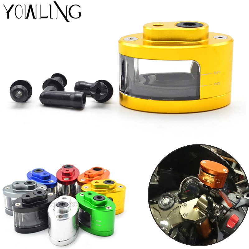 CNC Universal Motorcycle  Brake Fluid Reservoir Oil Cup Front Brake Clutch for yamaha fz6 r6 fz1 r1 r25 xj6 xjr 1300 fz8 SJ6N R3 motorcycle brake fluid reservoir clutch tank oil fluid cup for yamaha yzf r25 r15 r6 r125 kawasaki z750 z800 fz8 fz1 fz6r mt09