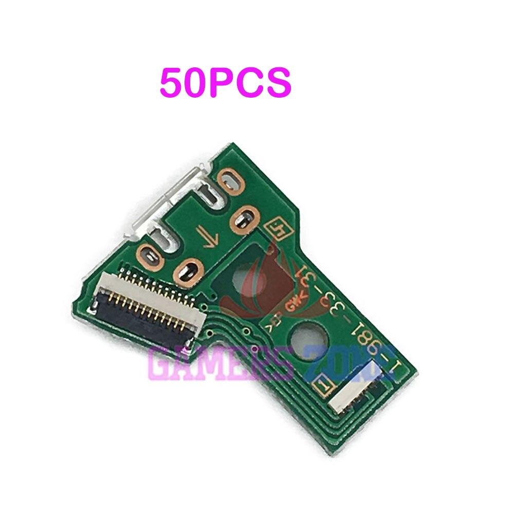 50PCS V4 V5 Micro USB Charging Socket IC Circuit Board For Sony Playstation 4 PS4 Pro