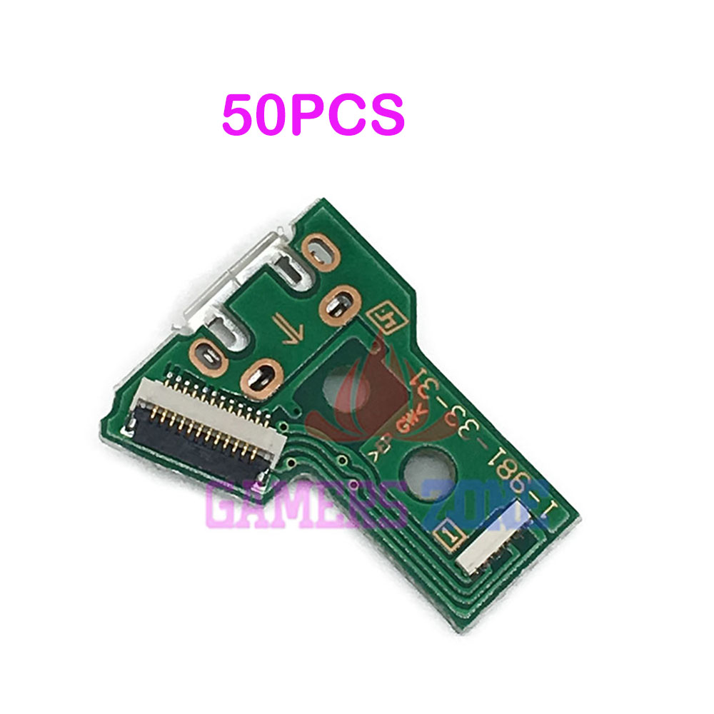 50PCS V4 V5 Micro USB Charging Socket IC Circuit Board For Sony Playstation 4 PS4 Pro JDS-040 Controller Power Charger Board