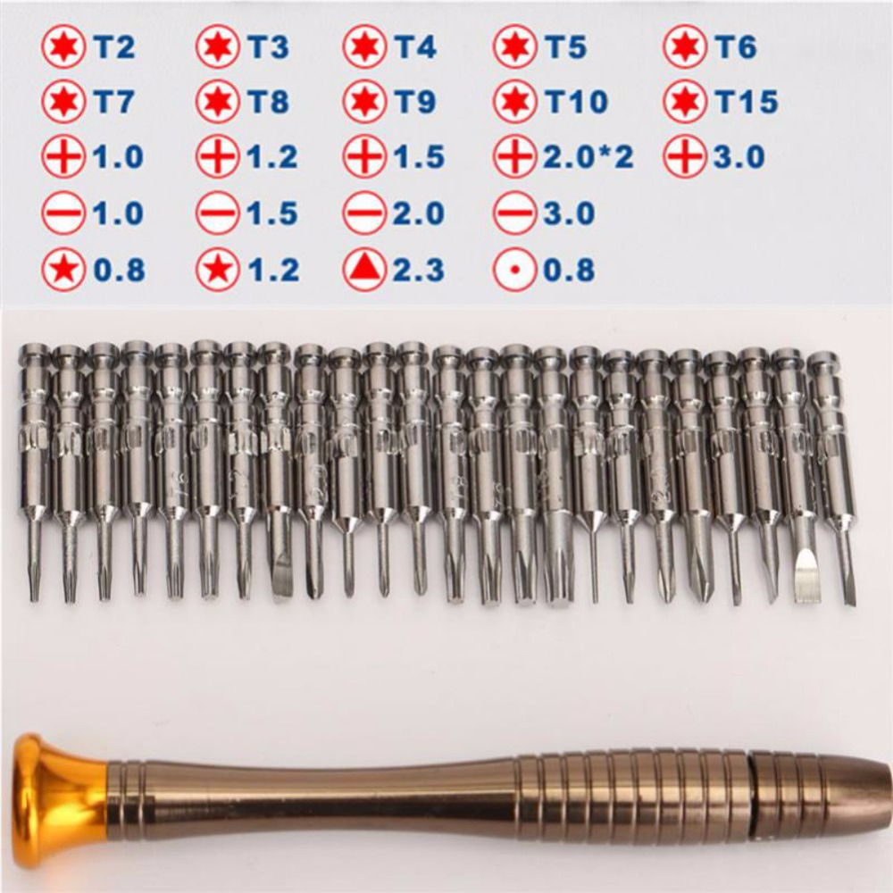 Screwdriver Set 25 in 1 Torx Screwdriver Repair Tool Set For iPhone Cellphone Tablet PC Worldwide Store Hand tools все цены
