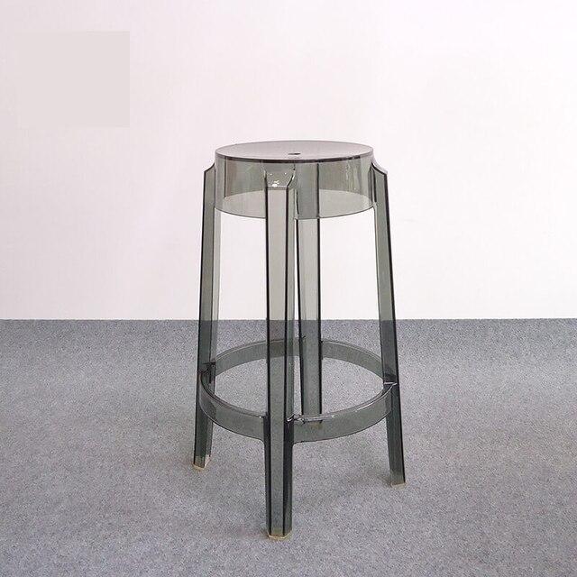 High Quality Minimalistischen Modernen Design Transparent Barhocker Barhocker Caft Loft  Wohnzimmer Stühle Kunststoff Sitzhöhe 64 Cm Bar Stuhl Photo