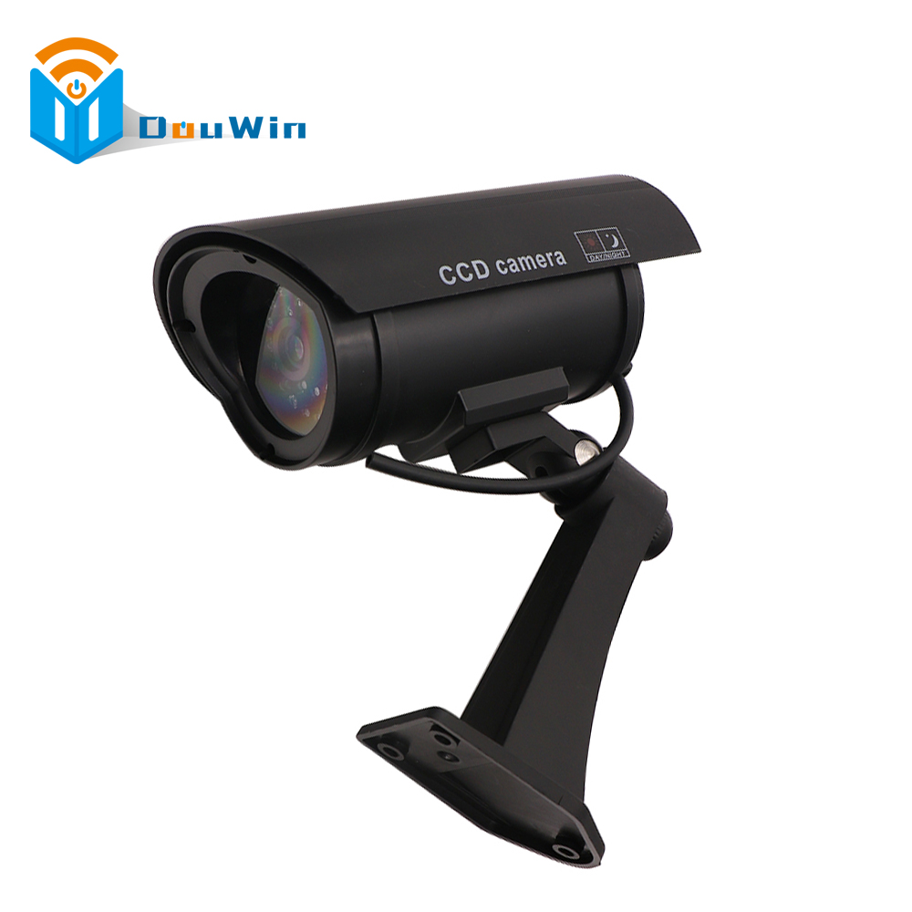 Fake Camera Imitation CCTV Security Camera Security Outdoor Indoor Dummy with Blinking Flashing Light Bullet Shape CCTV Camera waterproof dummy cctv camera with flashing led for outdoor or indoor realistic looking fake camera for security