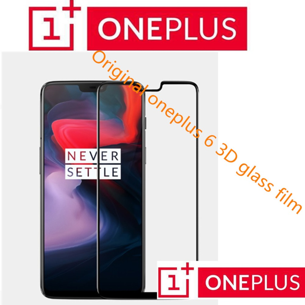 100% Original Oneplus 6Tglass 3D Full Cover Tempered Glass  From Oneplus Company Screen Protector For One Plus 6T