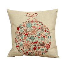 Funda de cojín de decoración para hogar y sofá cama Vintage de Navidad maravillosa