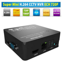 4Ch Super Mini 1080P NVR Network Video Recorder With ONVIF 15X Digital Zoom Motion Detection External