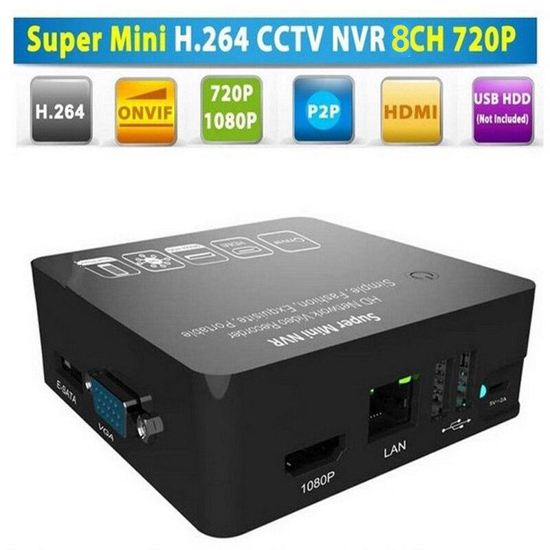 4ch супер мини 1080 P NVR сети видео Регистраторы с ONVIF и 15x цифровой зум и обнаружения движения и внешний mobile HDD поддерживается